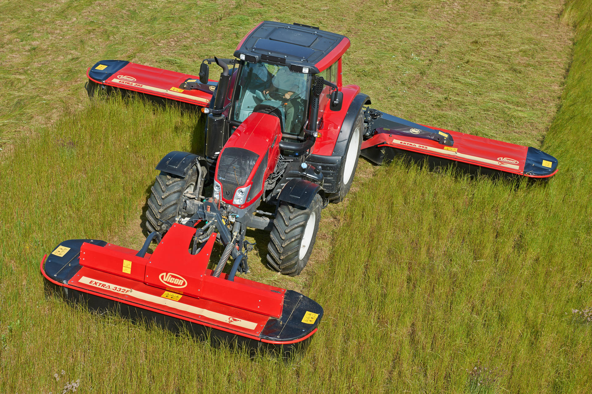 Tractor Rear Disc : Rear mounted disc mowers butterfly vicon extra