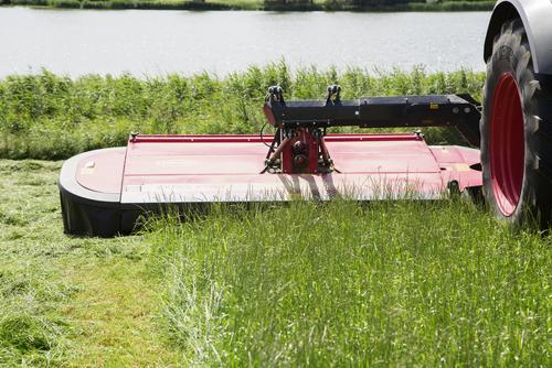 3 - Mowing unit is lowered evenly onto the ground without one side touching the ground before the rest of the mower.