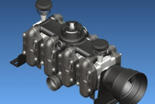 Piston diaphragm pumps